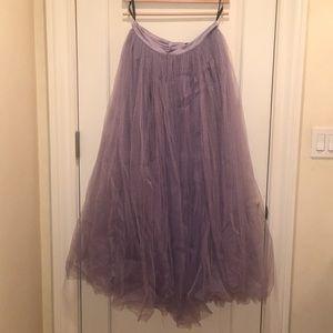 Violet Tulle maxi skirt